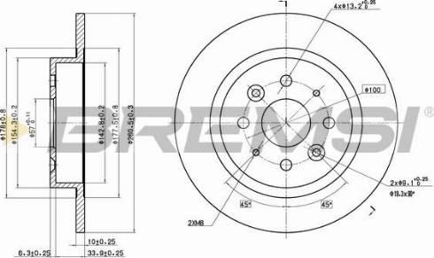 Bremsi CD7600S - Тормозной диск autodnr.net