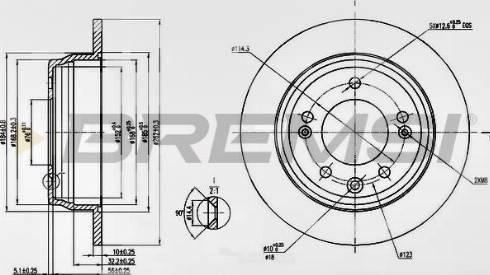 Bremsi CD7618S - Тормозной диск autodnr.net