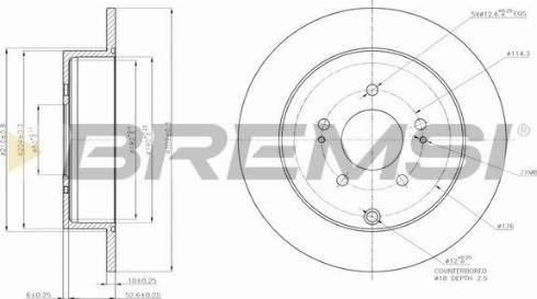Bremsi CD7737S - Тормозной диск autodnr.net