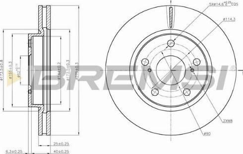 Bremsi CD7838V - Тормозной диск autodnr.net