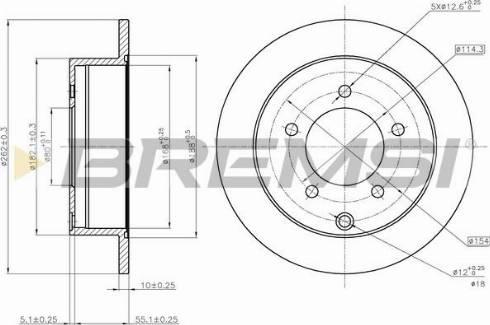 Bremsi CD7986S - Тормозной диск autodnr.net