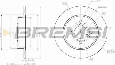 Bremsi CD8071S - Тормозной диск autodnr.net