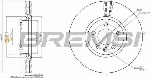 Bremsi CD8182V - Тормозной диск autodnr.net