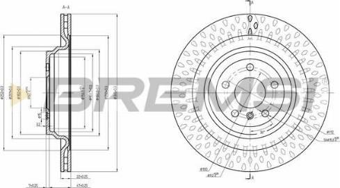 Bremsi CD8630V - Тормозной диск autodnr.net