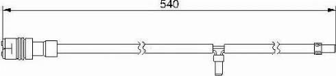 Bremsi WI0545 - Сигнализатор, износ тормозных колодок autodnr.net