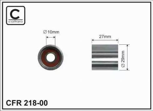 Caffaro 21800 - Натяжной ролик, ремень ГРМ car-mod.com