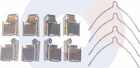 Carrab Brake Parts 2255 - Комплектующие, колодки дискового тормоза autodnr.net