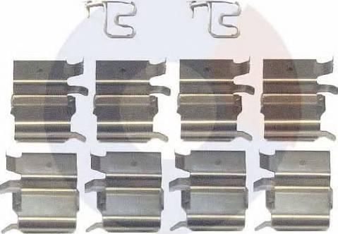 Carrab Brake Parts 2316 - Комплектующие, колодки дискового тормоза autodnr.net