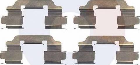 Carrab Brake Parts 2327 - Комплектующие, колодки дискового тормоза autodnr.net