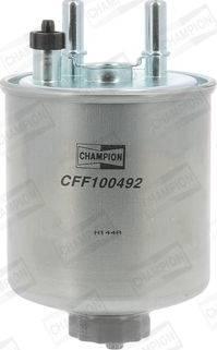 Champion CFF100492 - Паливний фільтр autocars.com.ua