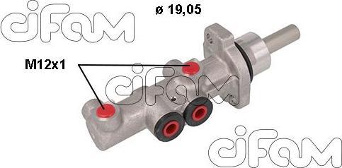 Cifam 202-1117 - Главный тормозной цилиндр autodnr.net