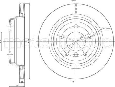 Cifam 800-398C - Тормозной диск autodnr.net
