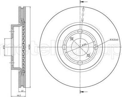 Cifam 800-879C - Тормозной диск autodnr.net