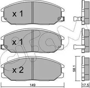 Cifam 822-632-0 - Комплект тормозных колодок, дисковый тормоз autodnr.net