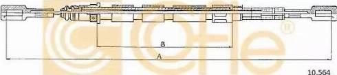 Cofle =10564 - Трос, стояночная тормозная система autodnr.net