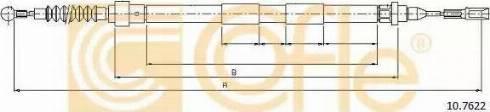 Cofle 10.7622 - Трос, стояночная тормозная система avtokuzovplus.com.ua