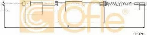 Cofle 10.9891 - Трос, стояночная тормозная система avtokuzovplus.com.ua