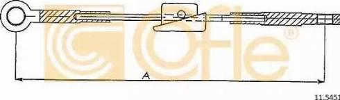 Cofle 115451 - Трос, стояночная тормозная система car-mod.com