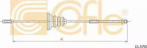 Cofle 10.9326 - Трос, стояночная тормозная система avtokuzovplus.com.ua