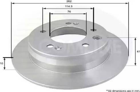 Comline ADC1090 - Тормозной диск autodnr.net