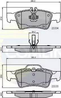 Comline CBP01118 - Тормозные колодки, дисковые car-mod.com