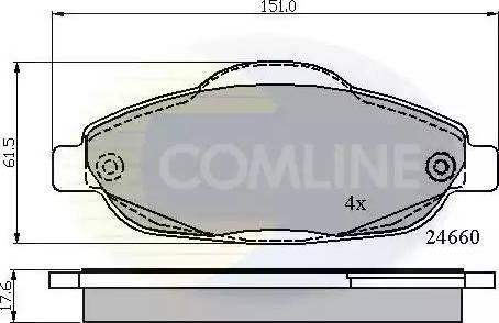 Comline CBP01765 - Тормозные колодки, дисковые car-mod.com