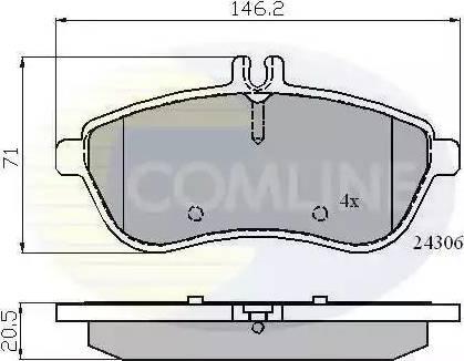 Comline CBP01786 - Тормозные колодки, дисковые car-mod.com