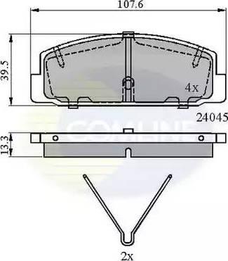 Comline CBP0986 - Комплект тормозных колодок, дисковый тормоз autodnr.net