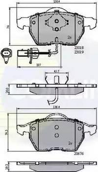 Comline CBP11542 - Тормозные колодки, дисковые car-mod.com