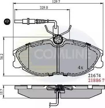 Comline CBP1340 - Комплект тормозных колодок, дисковый тормоз autodnr.net