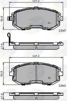 Comline CBP31760 - Тормозные колодки, дисковые car-mod.com