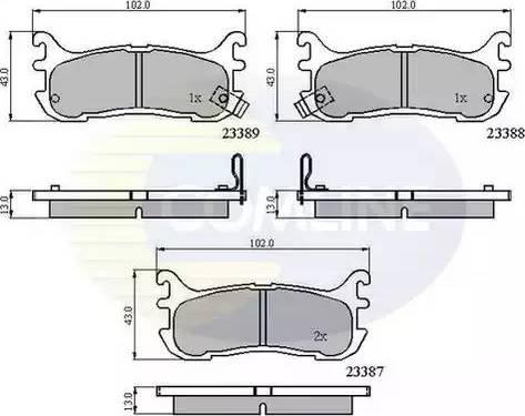 Comline CBP3822 - Комплект тормозных колодок, дисковый тормоз autodnr.net