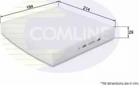 Comline EKF185 - Фильтр салонный autodnr.net