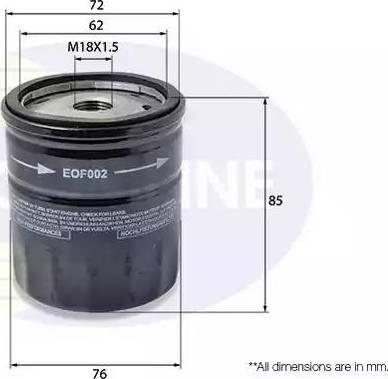 Comline EOF002 - Масляный фильтр autodnr.net