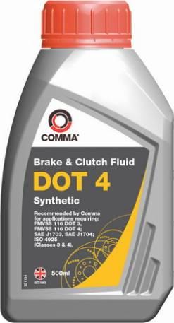 Comma DOT4SYNT500ML - Тормозная жидкость avtokuzovplus.com.ua