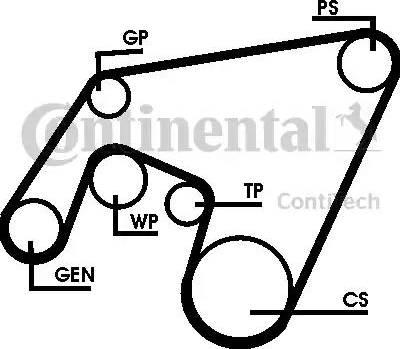 Contitech 6PK2264D1 - Поликлиновой ременный комплект autodnr.net