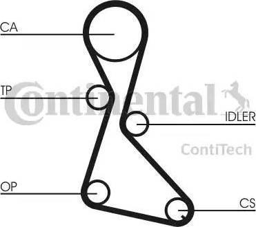Contitech ct684k1 - Комплект ремня ГРМ autodnr.net