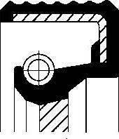 Corteco 01019289b - Уплотняющее кольцо вала, автоматическая коробка передач autodnr.net