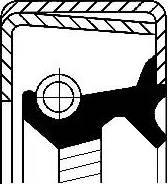Corteco 12014316b - Уплотняющее кольцо вала, автоматическая коробка передач autodnr.net