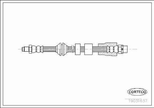 Corteco 19031637 - Тормозной шланг avtokuzovplus.com.ua