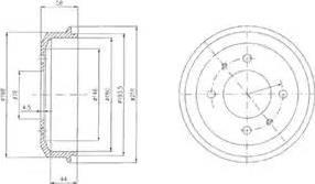Delphi BF435 - Тормозной барабан autodnr.net