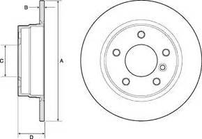 Delphi BG2624 - Тормозной диск autodnr.net