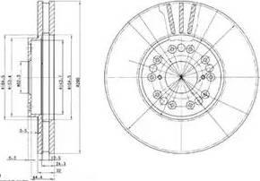 Delphi BG2829 - Тормозной диск autodnr.net