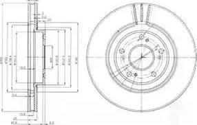 Delphi BG3747 - Тормозной диск autodnr.net