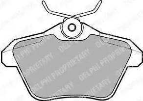 Delphi LP1018 - Комплект тормозных колодок, дисковый тормоз autodnr.net