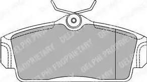 Delphi LP1435 - Комплект тормозных колодок, дисковый тормоз autodnr.net