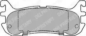 Delphi LP1452 - Комплект тормозных колодок, дисковый тормоз autodnr.net