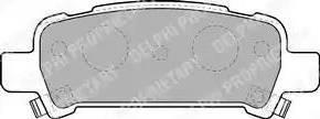 Delphi LP1509 - Тормозные колодки, дисковые car-mod.com