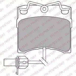 Delphi LP1535 - Комплект тормозных колодок, дисковый тормоз autodnr.net