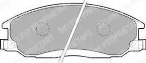 Delphi LP1743 - Комплект тормозных колодок, дисковый тормоз autodnr.net